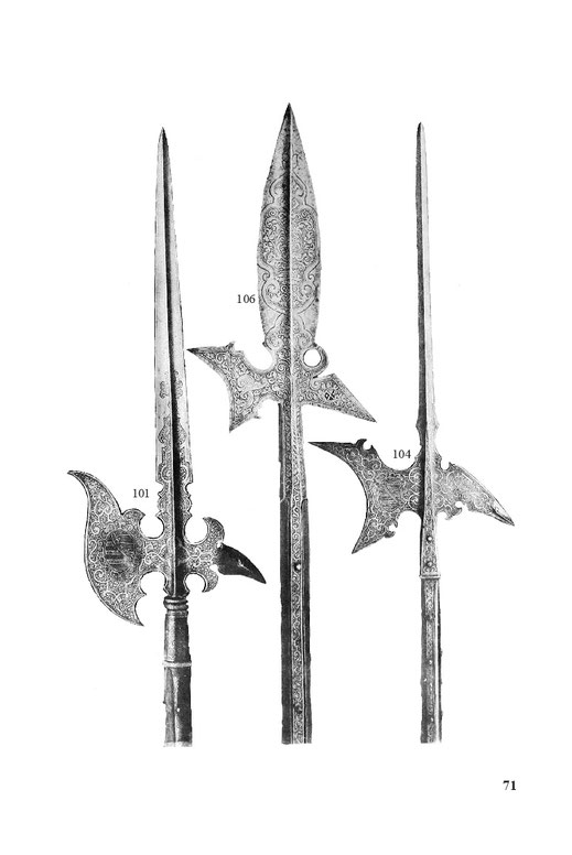 Helmbarten, Prunk-Hellebarden