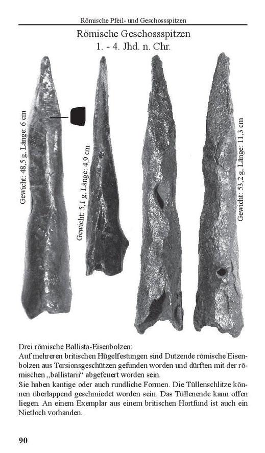 Römische Pfeilspitzen und Geschossspitzen 1. - 4 Jhd. n. Chr.
