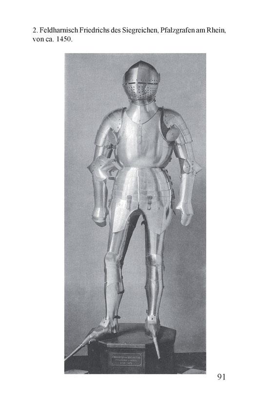 Feldharnisch Friedrichs des Siegreichen, Pfalzgrafen am Rhein, 1450