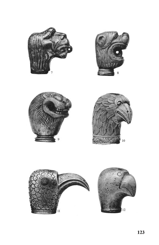 european sword pommels animal heads