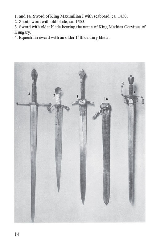Sword of King Maximilian I with scabbard, Short sword, sword of King Mathias Corvinus, equestrian sword 14th century
