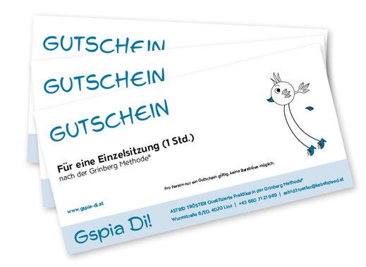 Gutscheine Grinberg Methode - Gspia Di! - Astrid Tröster