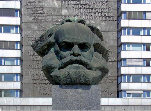 Beeld van Marx in Chemnitz (bron: Pixabay)