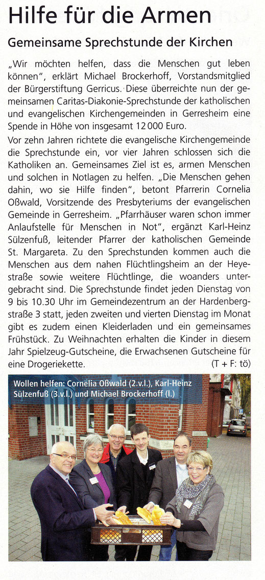 Dezember 2014, Gerresheimer Gazette