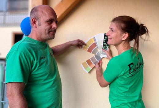 Sebastian und Tina Becker von Malerbetrieb Becker in Lahnau-Waldgirmes