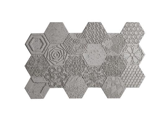 PanelPiedra - Serie Cemento  - PR-960 Cemento Hexágonos