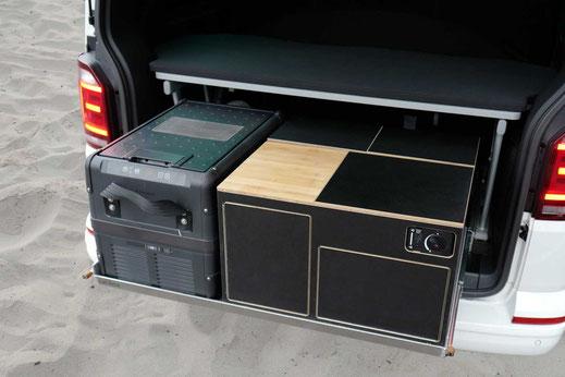 Heckküche, Module und Heckauszug Compact