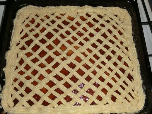 Gitterkuchen  - roh