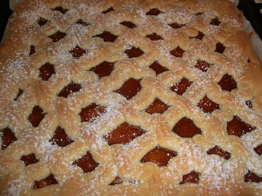 Gitterkuchen  -  fertig gebacken