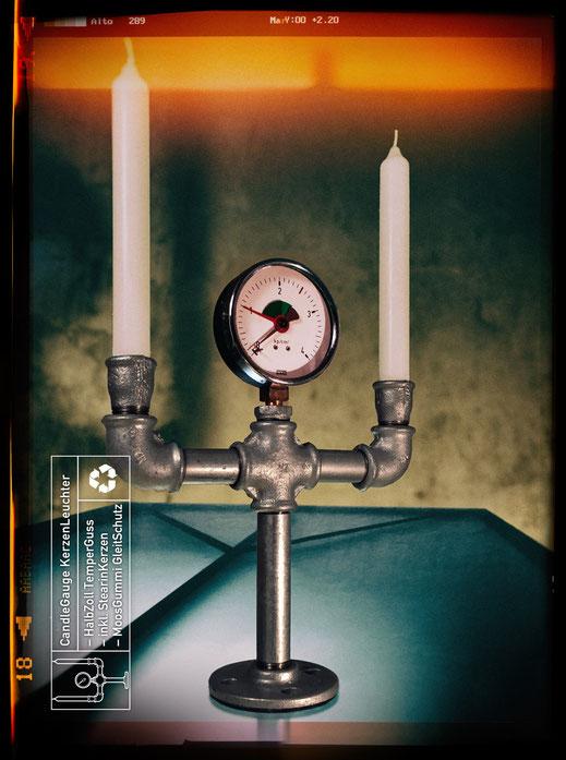 InstallationsRohre als KerzenStänder CandleGauge, CandlePipe (ohne Manometer)