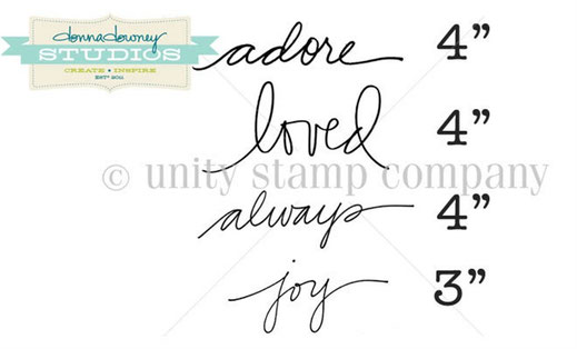 UK Stockist Donna Downey Stamps by Unity Stamp Co