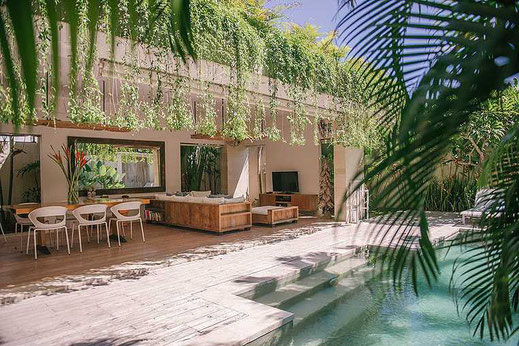 Pererenan almost beachfront twin villas for sale. Canggu villas for sale by owner