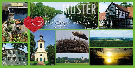 Schönwalde-Glien Postkarte