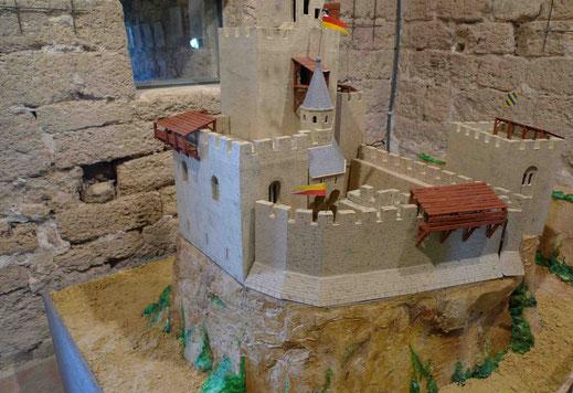 Maquette de la tour.