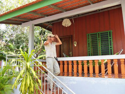 Unser Bungalow bei Meas Homestay, bei Takeo, Kambodscha (Foto Jörg Schwarz)