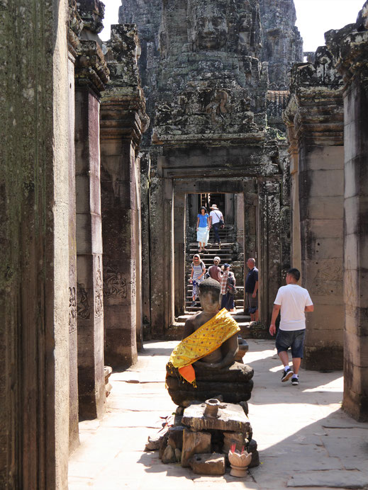 Gut besucht...! Bayon, Kambodscha (Foto Jörg Schwarz)