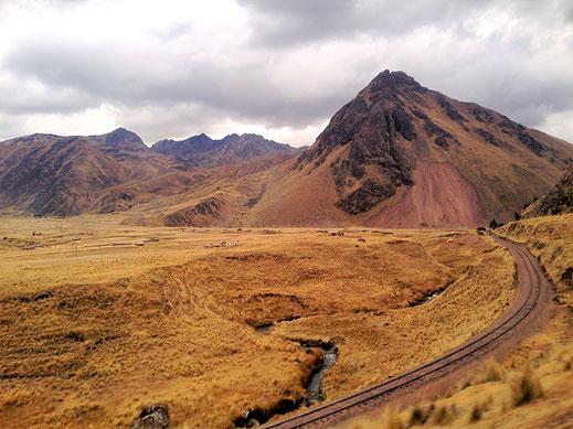 Trotz schlechten Wetters: Fanstastische Puna-Landschaften zwischen Cusco und Puno, Peru (Foto Jörg Schwarz)