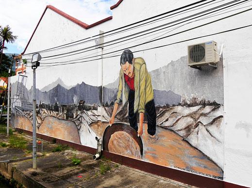 Das Zinn lag direkt unter der Erdoberfläche und konnte von Hand ausgewaschen werden... Taiping, Malaysia (Foto Jörg Schwarz)