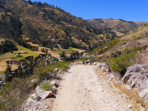 Schon von hier ganz schön weit weg, das Tal! Peru (Foto Jörg Schwarz)