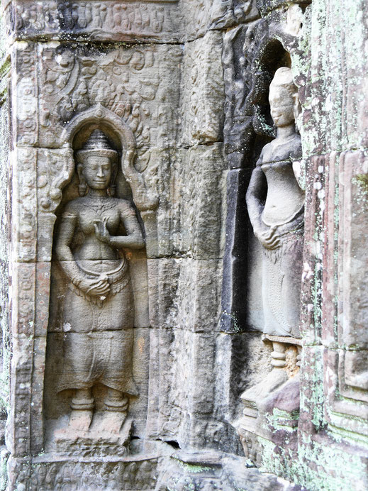 Man findet im gesamten Tempel wundervolle Devatas, Ta Som, Kambodscha (Foto Jörg Schwarz)