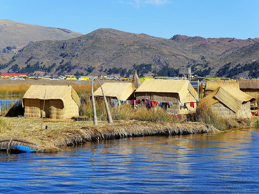 An sich eine geniale Vorstellung mit den Inseln auf dem See... Puno, Peru (Foto Jörg Schwarz)