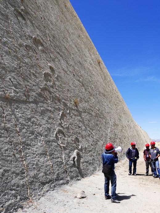 Nein, die Führung war nicht so toll... Cal Orck'o bei Sucre, Bolivien (Foto Jörg Schwarz)