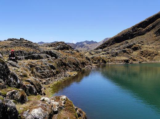 Eine wunderbare kleine Lagune, Sorata, Bolivien (Foto Jörg Schwarz)