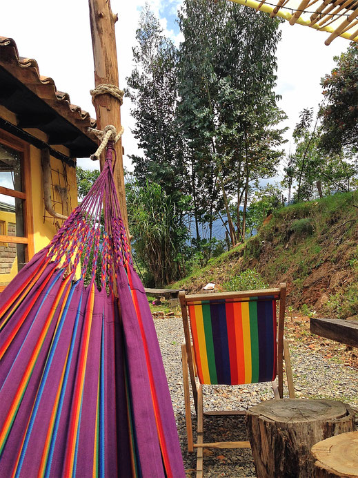 Alle was wir brauchen: Hängematte, Garten in schöner Natur, Gachantivá, Kolumbien (Foto Jörg Schwarz)