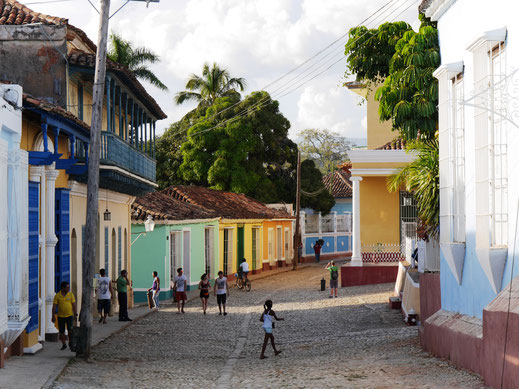 Straße bei der Plaza Mayor, Trinidad, Kuba (Foto Jörg Schwarz)