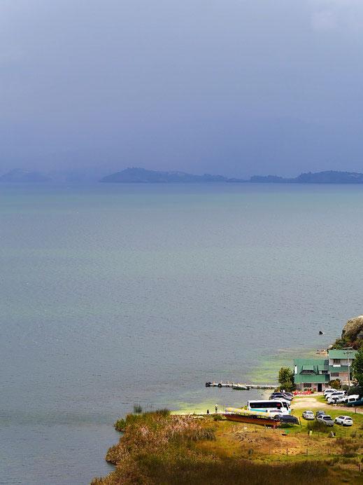 Das geht nicht mehr lange gut... Lago de Tota, Kolumbien (Foto Jörg Schwarz)