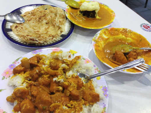 Hier mal ein Hauptgericht beim Restaurant Kader... Lecker, Kuala Lumpur, Malaysia (Foto Jörg Schwarz)