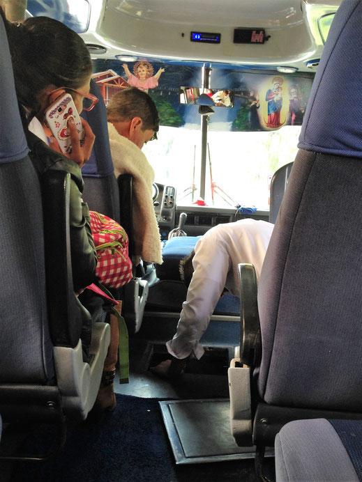 Das Getriebe des Busses kann und will nicht mehr... Lago de Tota, Kolumbien (Foto Jörg Schwarz)