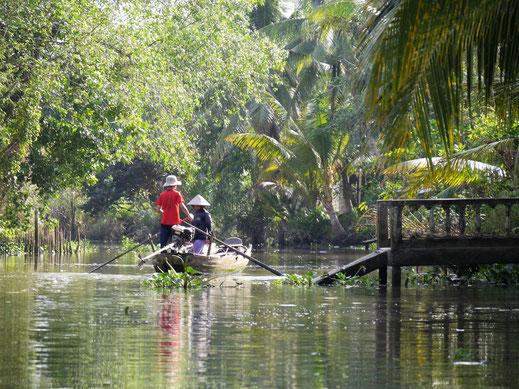 Vor allem die kleinen Kanäle und Flussarme des Deltas haben enormen Charme... Bei Can Tho, Vietnam (Foto Jörg Schwarz)
