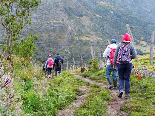 Und los geht's! Parque Nacional del Cocuy, Kolumbien (Foto Jörg Schwarz)