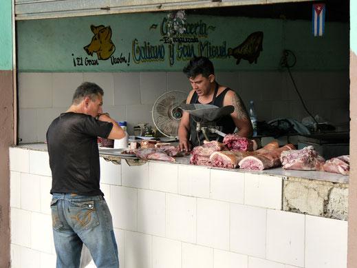Fleischerei in Havanna, Kuba (Foto Jörg Schwarz)