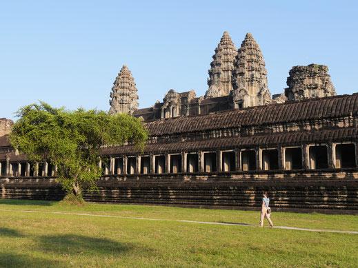 Schon eine besondere Atmosphäre, Angkor Wat, Kambodscha  (Foto Jörg Schwarz)