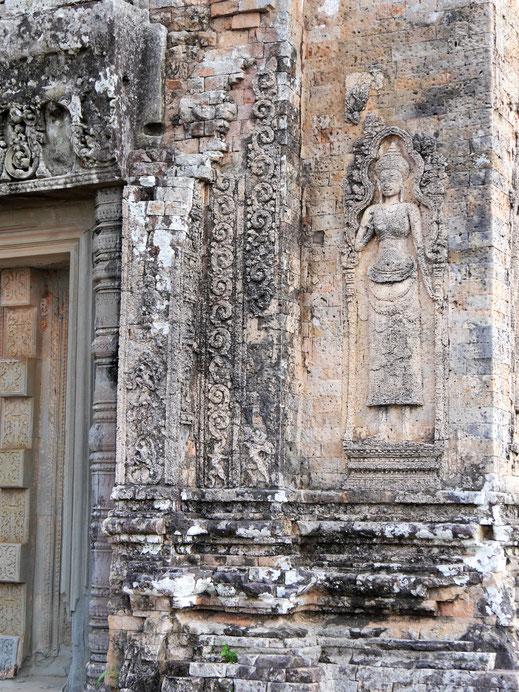 Nicht gerade der Tempel mit den besterhaltenen und filigransten Verzierungen... Pre Rup, Kambodscha (Foto Jörg Schwarz)...