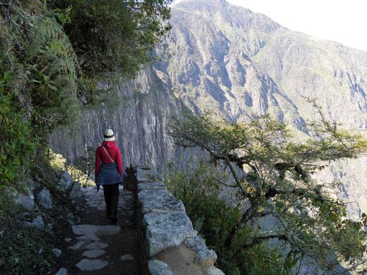 Atemberaubender Weg, Machu Picchu, Peru (Foto Jörg Schwarz)