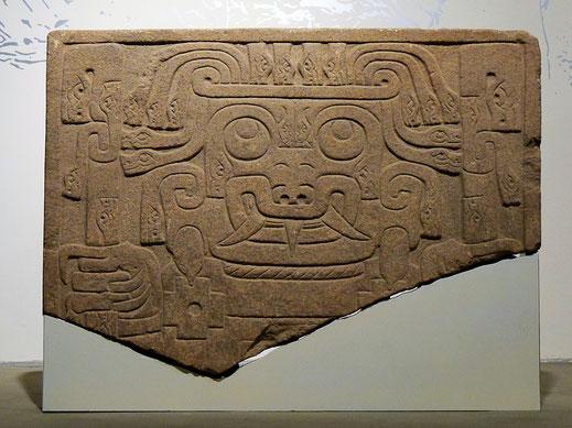 Oben: Verwandlungszustand eines Menschen unter Drogeneinfluss... Unten: Der vollends verwandelte Gott-Mensch des Kultus, Chavín de Huantar, Peru (Fotos Jörg Schwarz)