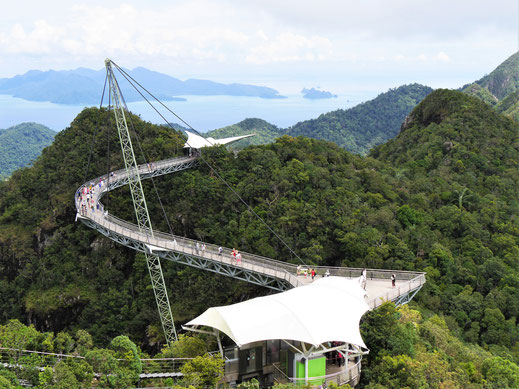 Die Skybridge ist ein Wahnsinnserlebnis! Langkawi, Malaysia (Foto Jörg Schwarz)