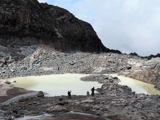 Gletscherseen bilden sich am Fuße des Giganten, Los Nevados, Kolumbien (Foto Jörg Schwarz)