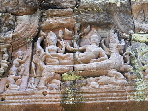 Außergewöhnliche Darstellungen und Reliefs, Preah Khan, Kambodscha (Foto Jörg Schwarz)