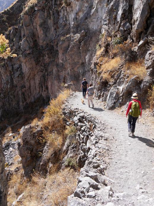 Wir genießen jeden Meter! Colca-Canon, Peru (Foto Jörg Schwarz)