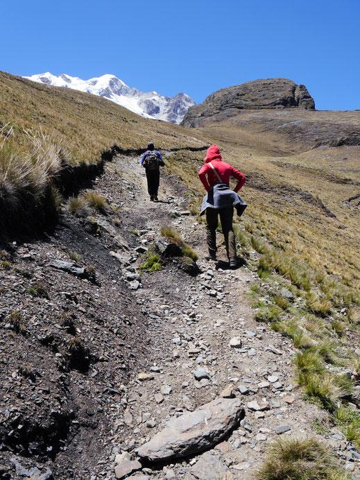 Es geht schon ordentlich aufwärts... Sorata, Bolivien (Foto Jörg Schwarz)