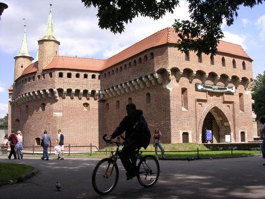 Der Babakan von Kraków (Krakau) ist eine der Stadtmauer vorgelagerte Wehranlage (Foto Jörg Schwarz)