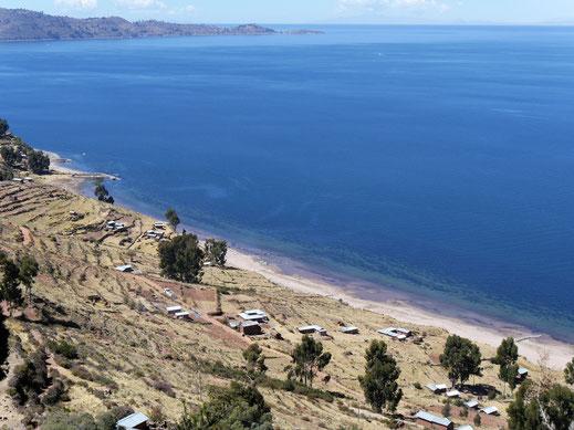 Die Weitsicht auf den See ist atemberaubend..., Capachica, Santa Maria,  Peru (Foto Jörg Schwarz)