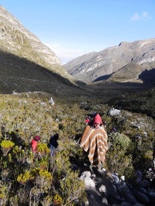 Der Aufstieg ist hart, die Landschaft atemberaubend und unvergesslich, El Cocuy Nationalpark, Kolumbien (Foto Jörg Schwarz)