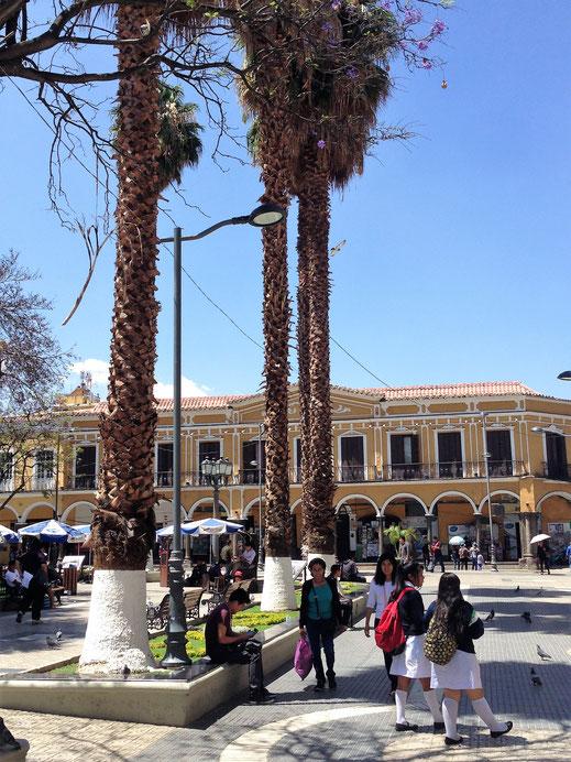 Die zentrale Plaza Cochabambas ist die schönste in ganz Bolivien, Cochabamba, Bolivien (Foto Jörg Schwarz)
