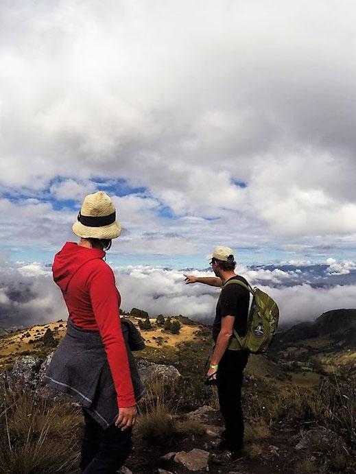Von da unten kommen wir her... Páramo de Ocetá, bei Monguí, Kolumbien (Foto Jörg Schwarz)