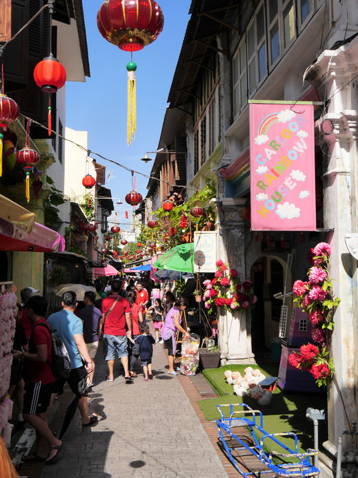 Die Concubine Lane mit ihren Souvenir- und Accessoire-Shops, Ipoh, Malaysia (Foto Jörg Schwarz)
